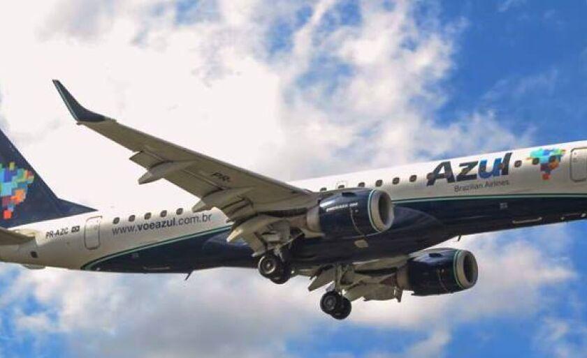 Azul passa a operar dois voos diários a partir desta terça-feira em Três Lagoas