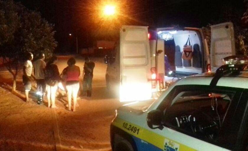 A Polícia Militar e o SAMU atenderam a ocorrência