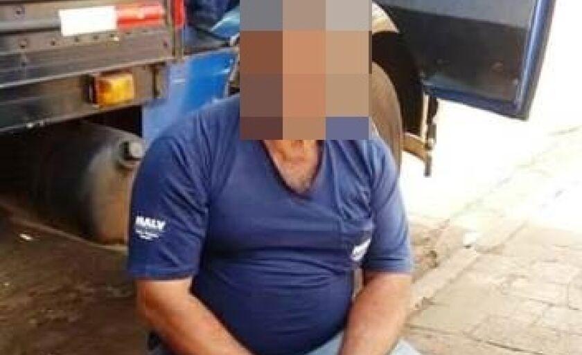 O caminhoneiro foi agredido e amarrado e teve o caminhão levado pelos bandidos