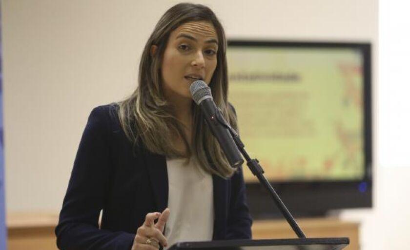 A secretária de Audiovisual, Mariana Ribas, lança programa de incentivo ao audiovisual