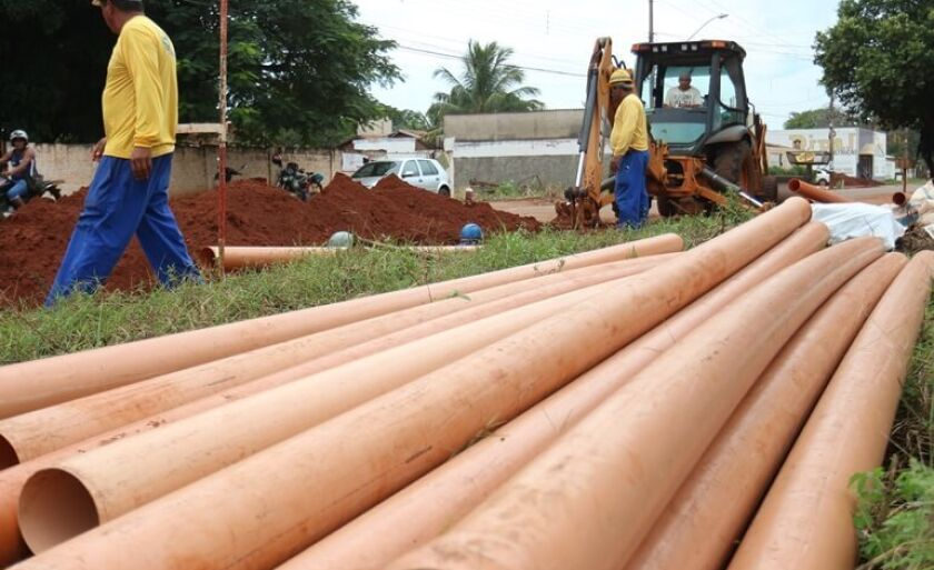 Obras em execução na cidade vão possibilitar ampliação da rede coletora de esgoto