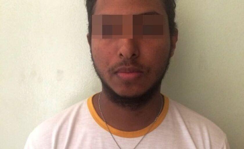O suspeito foi identificado e preso pelos policiais da 1ª DP