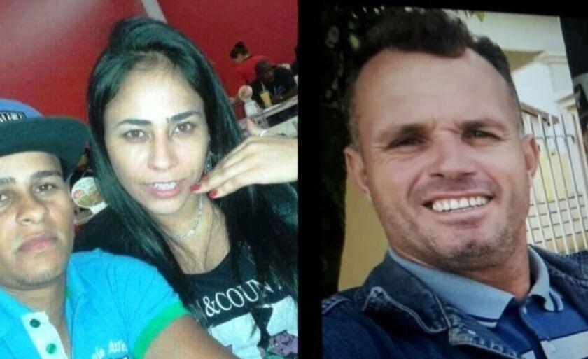 O casal Fernando e Luana e o comparsa Osmar estão sendo procurados