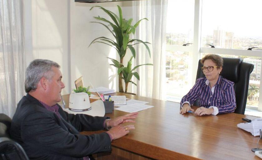 Prefeito Ângelo Guerreiro e deputada federal Tereza Cristina