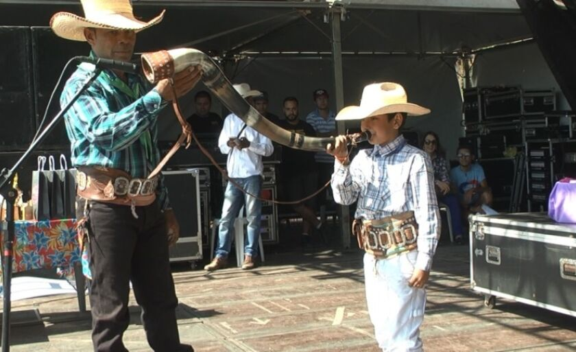 Pequeno Kayllan Gomes, de 8 anos, venceu o concurso mirim durante a Festa do Folclore, em Três Lagoas