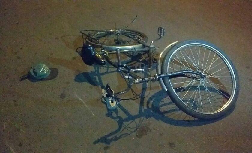 A vítima estava em uma bicicleta quando foi atropelada