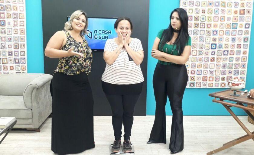 A selecionada Kátia Cavalcante de 29 anos, faxineira, mãe de 3 filhos