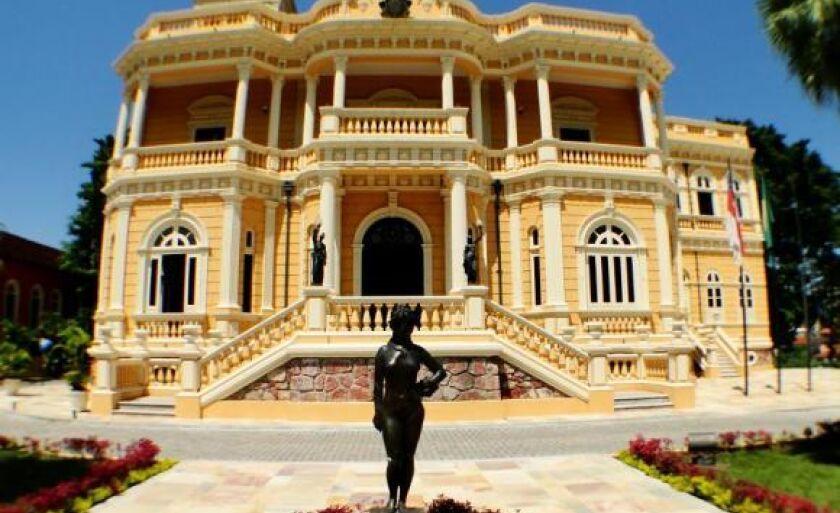 O Palácio Rio Negro, em Manaus, sede do governo local