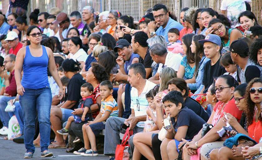 Segundo o IBGE mostram que a população do Estado chegou a 2,713 milhões de habitantes