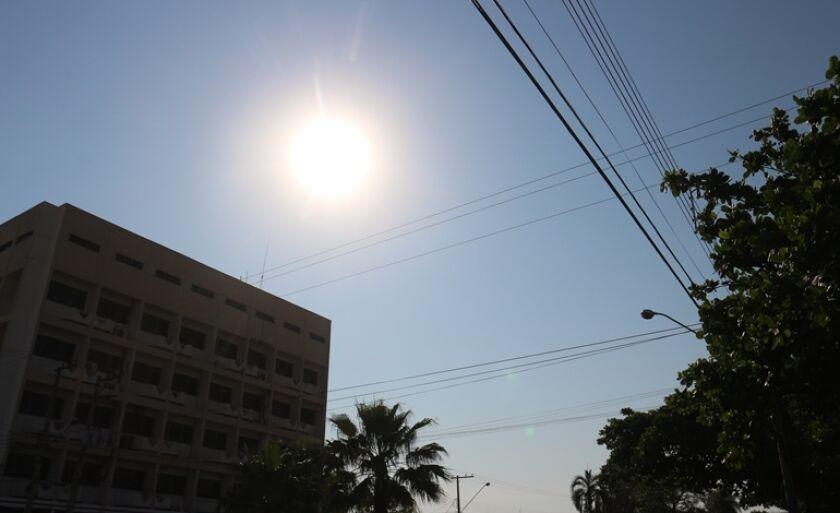 Para esta quinta-feira a previsão é de muito calor
