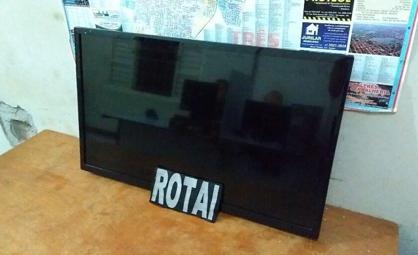 O televisor foi encontrado em uma residência no bairro Vila Nova
