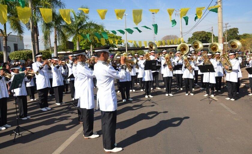 Banda Marcial Cristo Redentor em apresentação no Dia da Independência do Brasil, neste ano