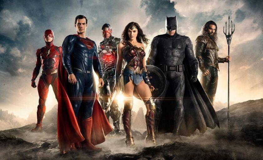 Liga da Justiça: Superman, Batman, Aquaman, Mulher-Maravilha, The Flash e Ciborgue