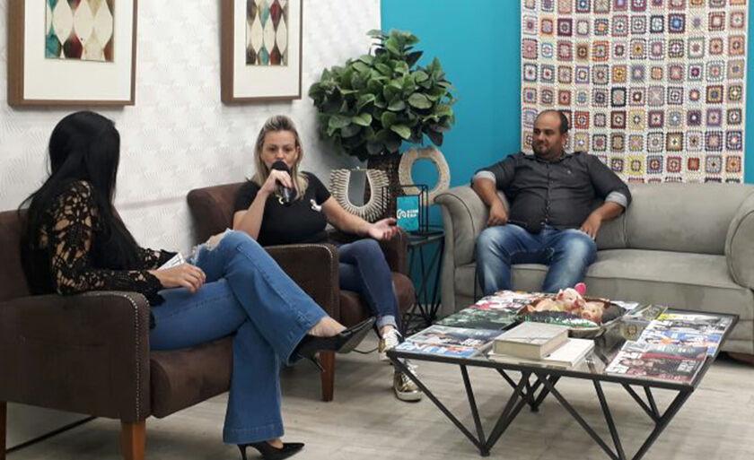Gláucia Jaruche, presidente da Assosiação Comercial e industrial de Três Lagoas e Fernando Jurado, vice presidente fala