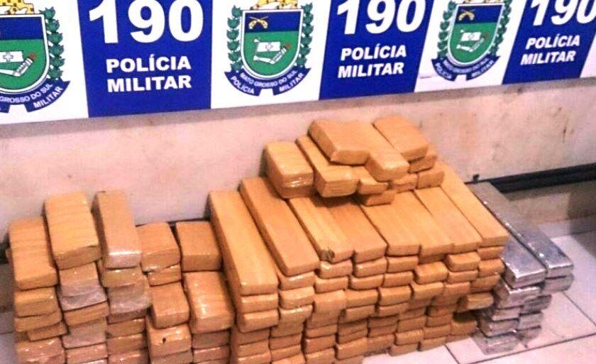 Polícia Militar apreende oito toneladas de maconha