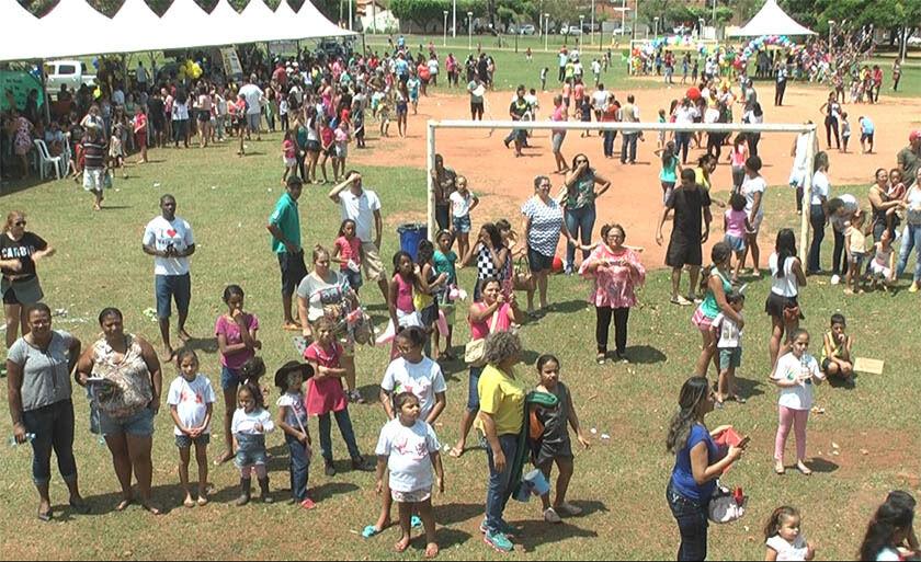 Organização do evento estimou a presença de mais de três mil crianças
