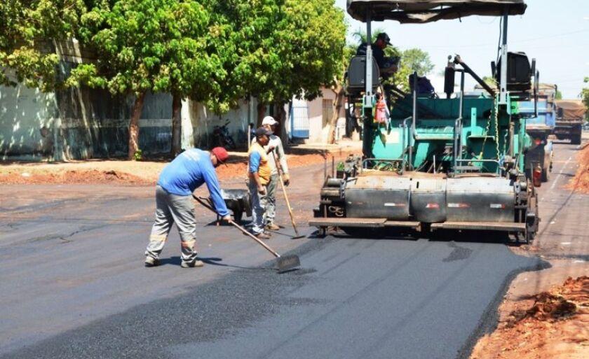 Nove quilômetros de ruas são asfaltados em Três Lagoas
