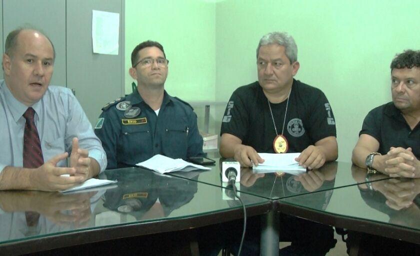 Revelação foi feita em uma coletiva de imprensa que reuniu alguns delegados e um oficial da Polícia Militar