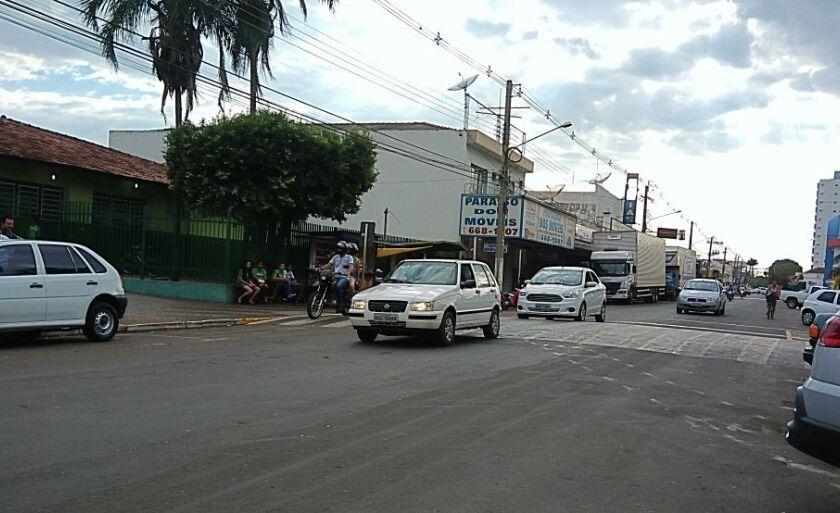Por volta das 3h houve uma chuva rápida em Paranaíba