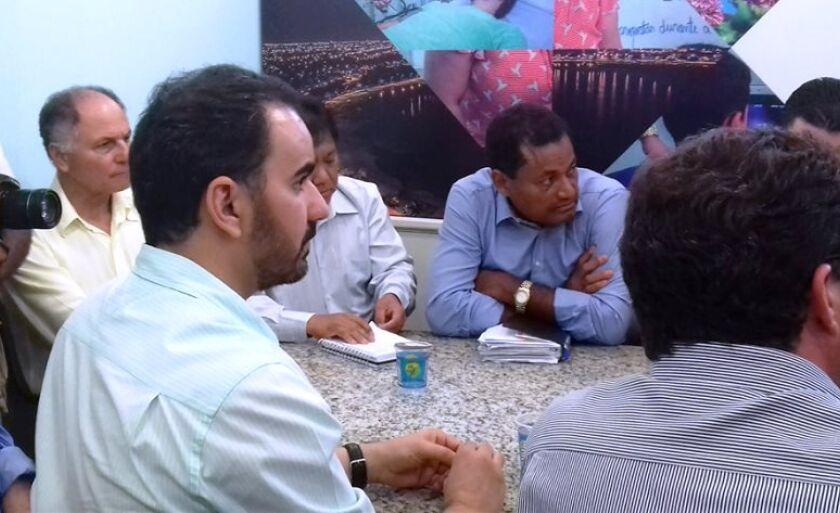 Reunião da Fiems com secretários da prefeitura, realizada na quarta-feira