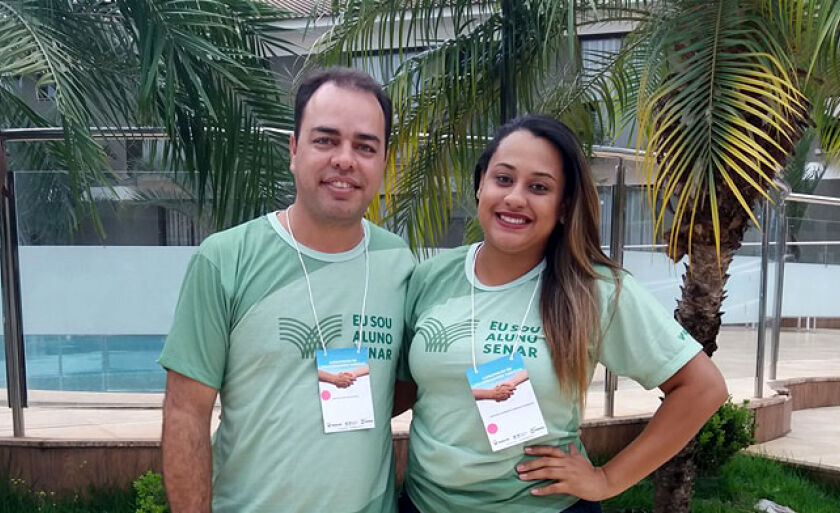 Edevar Souto de Oliveira e Caroline Rodrigues participaram da capacitação em Campo Grande