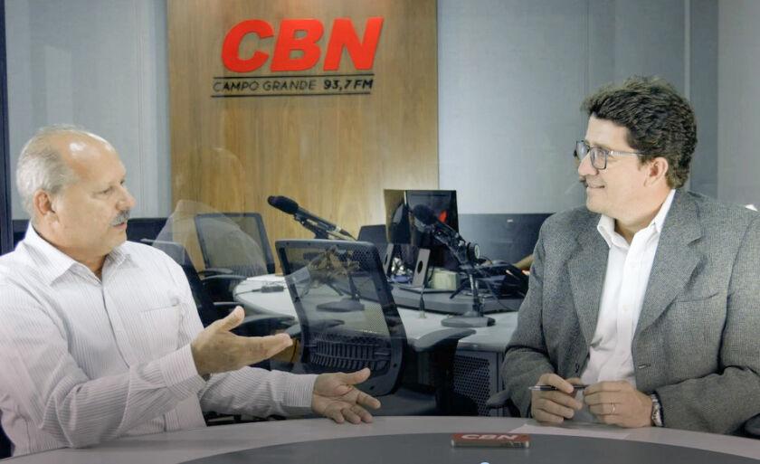 Celso Régis, Presidente da OCB MS e da Cooperativa de Crédito Sicredi em entrevista ao jornalista Otávio Neto da CBN