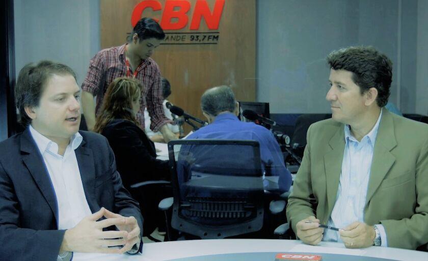 Superintendente do Sebrae Mato Grosso do Sul, Claudio Mendonça no Cenário CBN 2018 com o Jornalista Otávio Neto