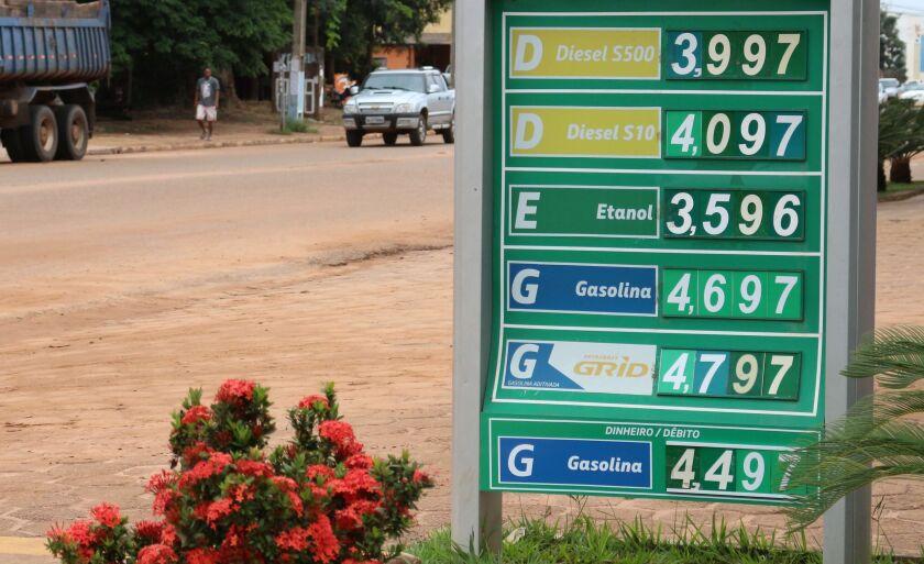Valores de combustíveis comercializados nesta quinta-feira (11), em Três Lagoas