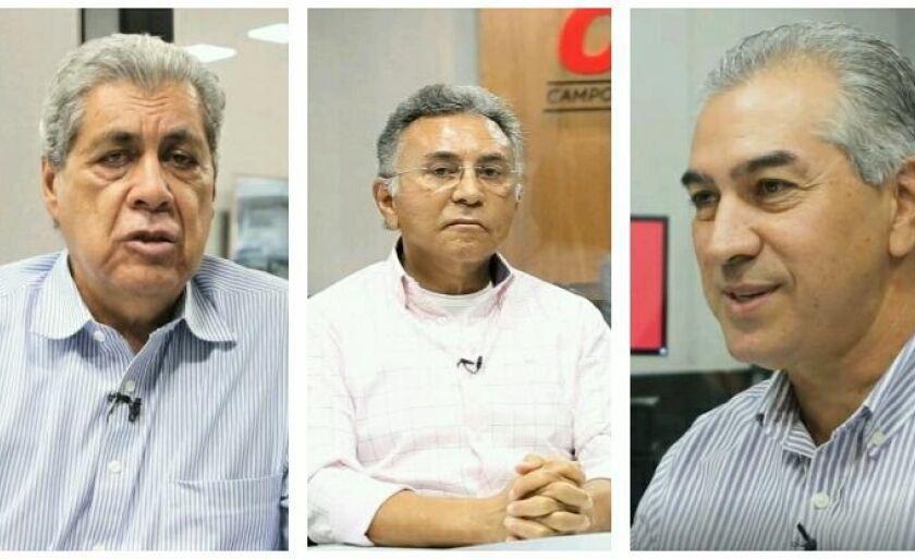 Puccinelli, Odilon e Azambuja são pré-candidatos ao governo de Mato Grosso do Sul