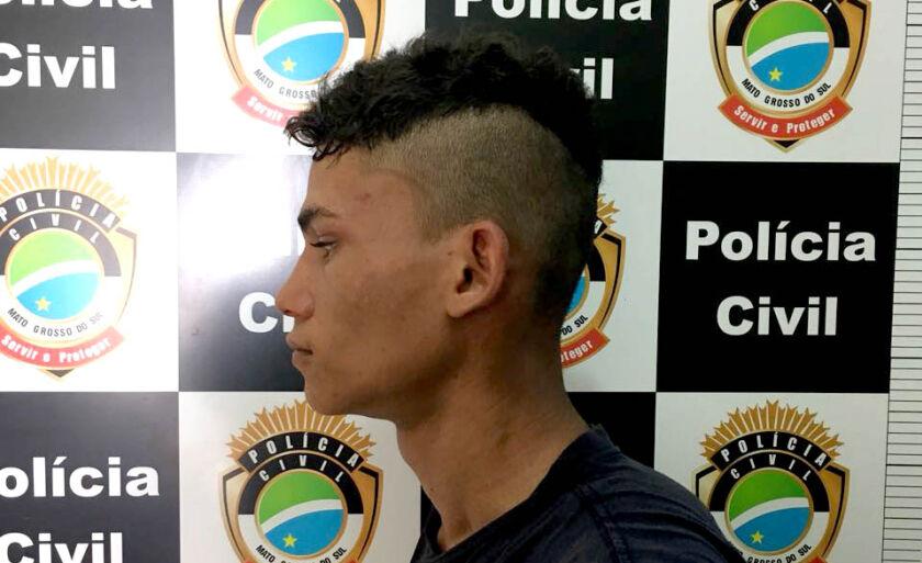 Lucas foi flagrado enquanto furtava moto em Brasilândia