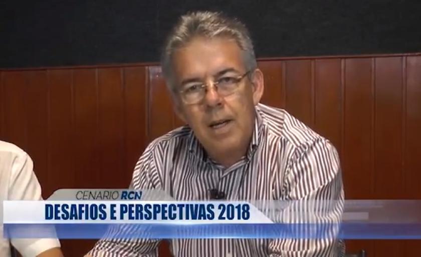 O prefeito Ronaldo Severino de Lima, que fala das suas perscpectivas para o ano de 2018