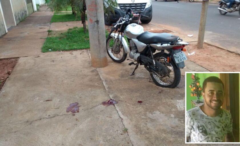 Elivelton Queiroz (detalhe) morreu no local do acidente