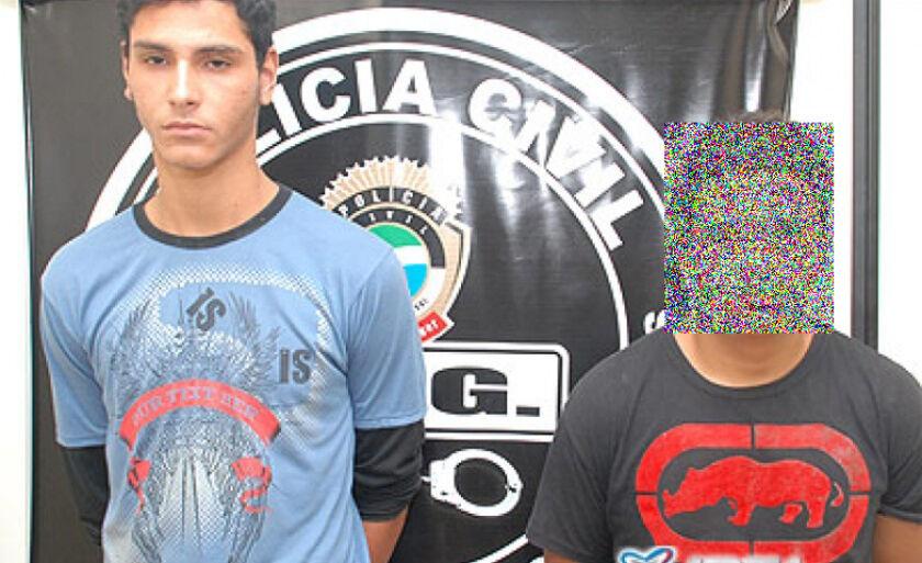 Rafael Antônio e João Paulo, presos poucos dias após o crime, em 2010