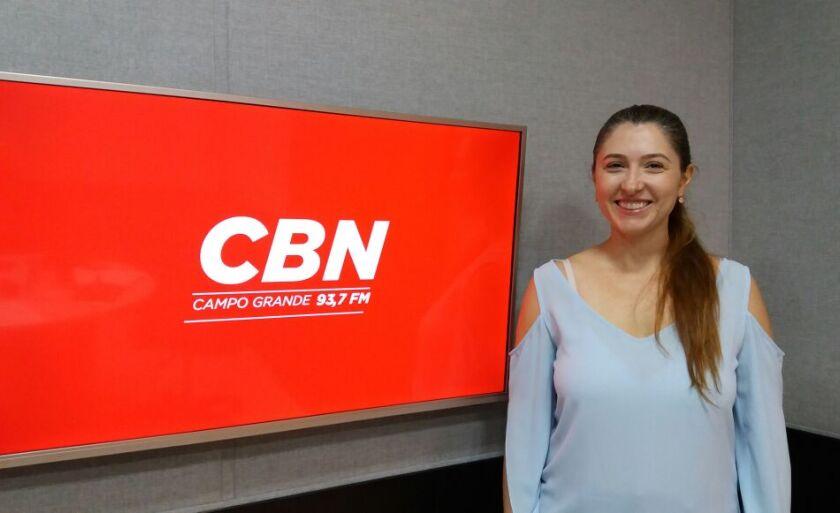 Claudia Paniago esteve na CBN Campo Grande
