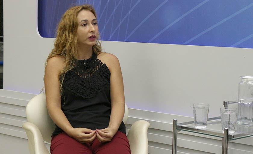 Letícia Mobis deu entrevista, nesta semana, na abertura da campanha do Grupo RCN de Comunicação