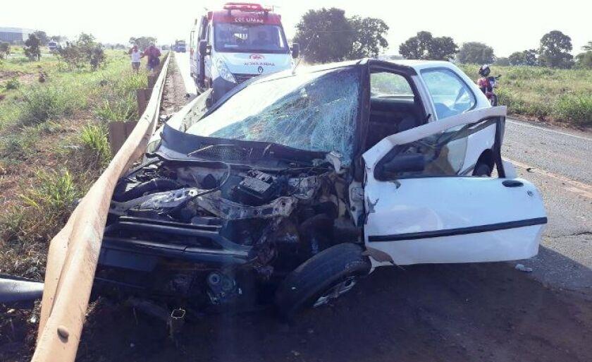Acidente ocorreu na manhã desta sexta-feira (20), na BR-262, saída de Três Lagoas para Campo Grande.s