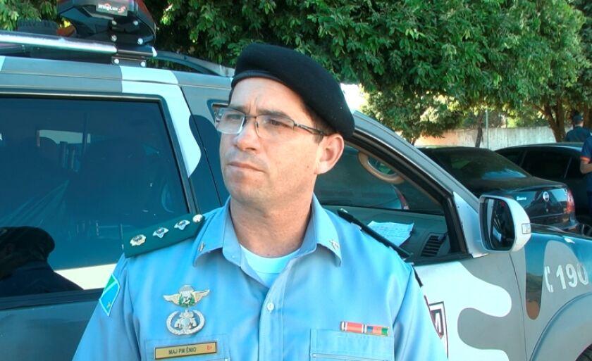 Major Ênio de Souza afirmou que as ações serão intensificadas em bairros de maior conflito criminal