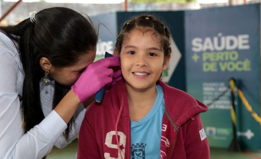 Na EM Brígida Ferraz Fóss foram feitos 385 exames de vista e audição.