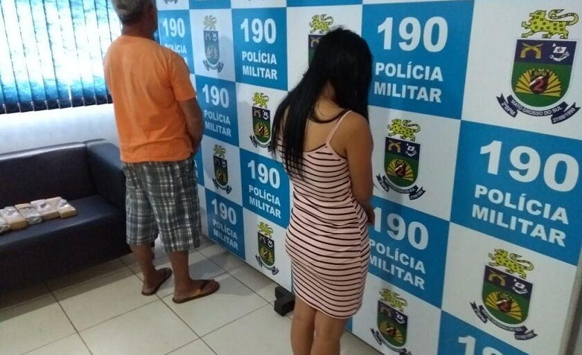 Dupla foi presa pela PM no bairro São João