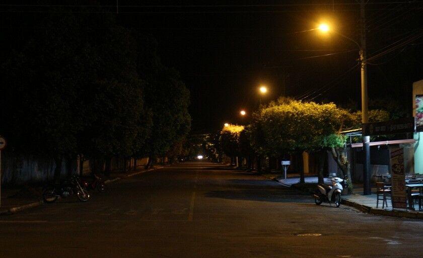 Três Lagoas tem diversos pontos de ruas com lâmpadas queimadas