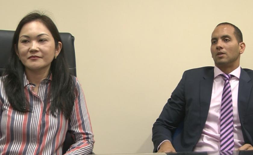 Promotores Rosana Suemi Fuzita Irikura e Jui Bueno Nogueira