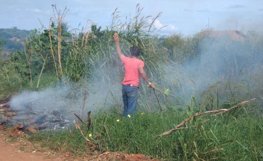 Paranaíba teve 24 queimadas nos cinco primeiros meses do ano - a maioria em terrenos baldios da área urbana