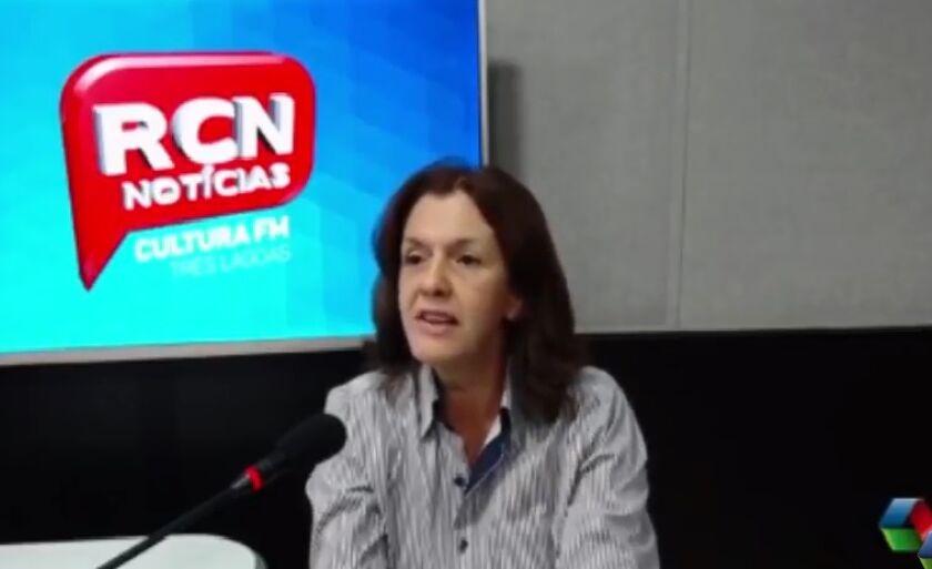 Sônia Góis, durante entrevista à Rádio Cultura FM