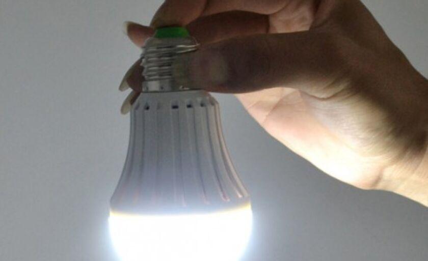 As lâmpadas de led são 80% mais econômicas