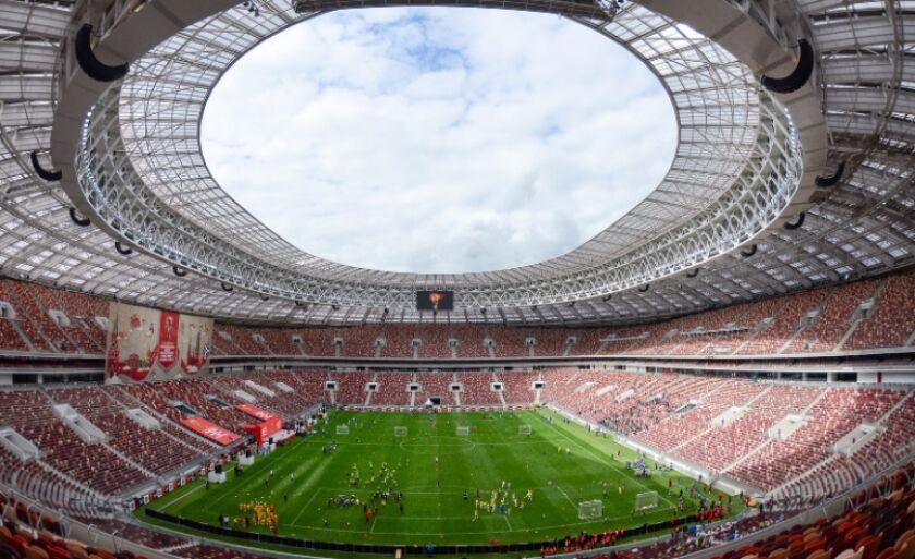 O Estádio Luzhniki, em Moscou