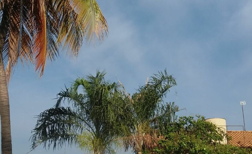 A nova frente fria provoca aumento de nebulosidade em todas as regiões do estado