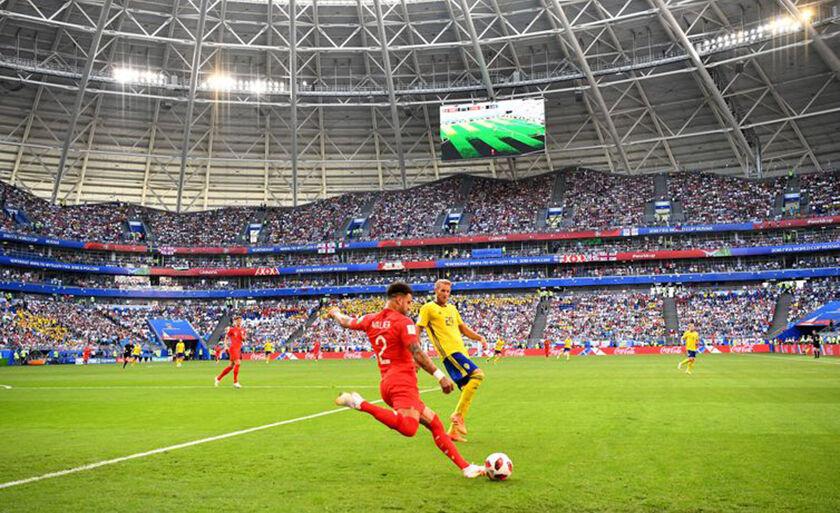 A Inglaterra venceu a Suécia para chegar à disputa das semifinais contra a Croácia