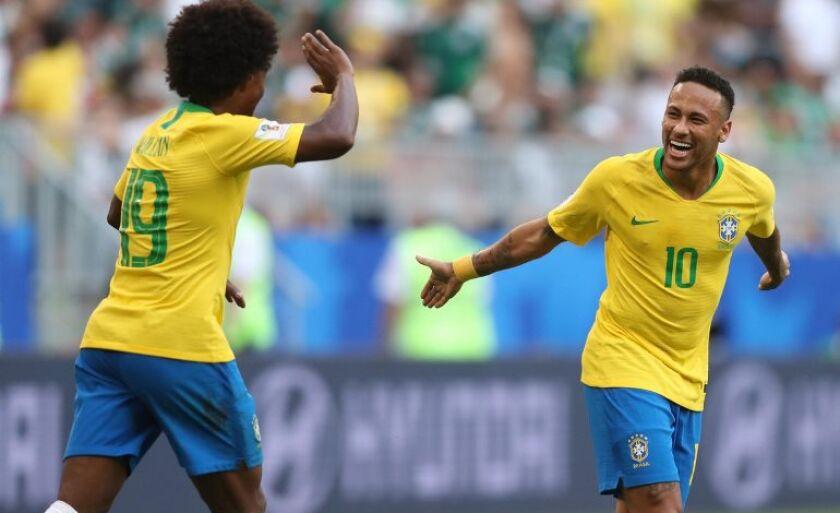 Brasil derrota o México e vai às quartas de final da Copa do Mundo