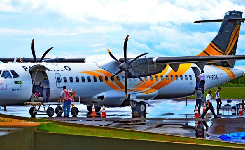 Passaredo Linhas áreas opera em Três Lagoas desde 2013, quando deu início as operações comerciais no Aeroporto Municipal Plínio Alarcon