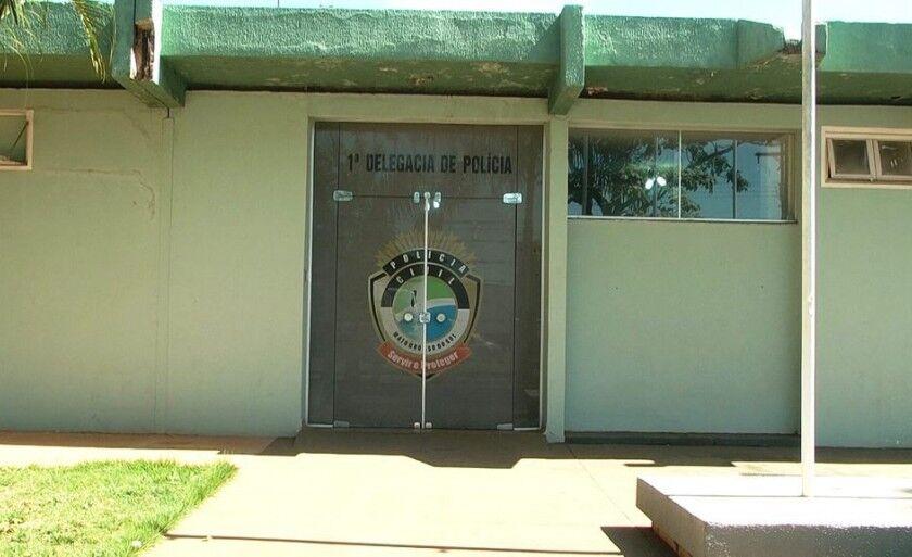 Vítima presta depoimento na 1ª Delegacia de Polícia Civil de Três Lagoas